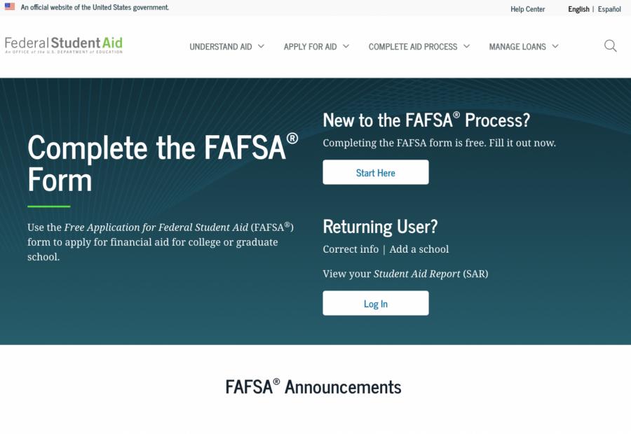 FAFSA+homepage+