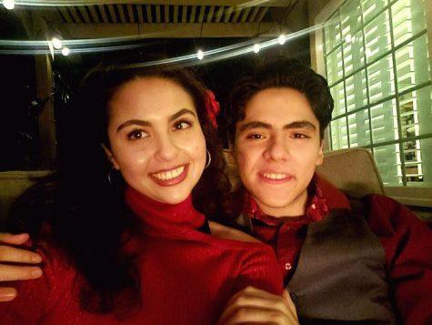 Nathan Camacho and his girlfriend Sarah Fountain on Valentine